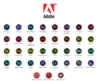 Logos logiciels Adobe