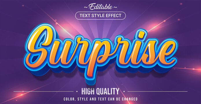 Editable text style effect - Surprise theme style.