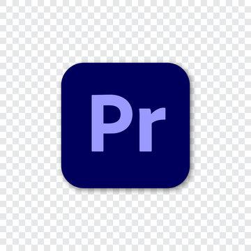 Vinnytsia, Ukraine - September 08, 2020: Adobe Premiere Pro logo