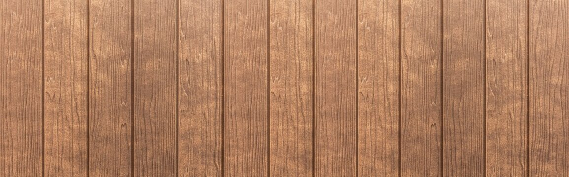 Panorama of Wood plank brown timber texture and seamless background