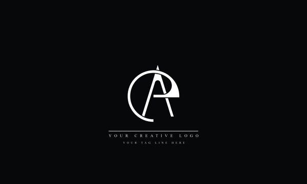 AE, EA, A, E, abstract vector logo monogram template