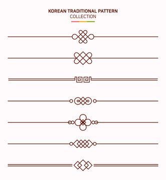 한국 전통 문양 프레임.