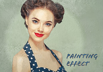 Painted Wall Photo Effect Mockup