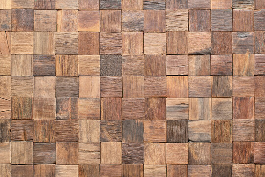 rustic wood texture wall panels, plank mosaic as background