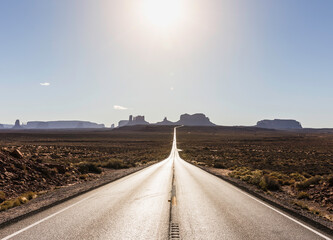 Road to monument valley, Mexican Hat, Utah, United States