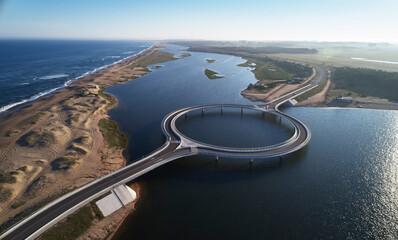 Laguna Garzon Round bridge, Paso de la Laguna, Salto, Uruguay