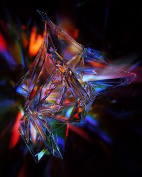Lights refracted through crystal