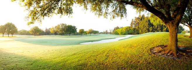 Scenic view of landscape of golf course