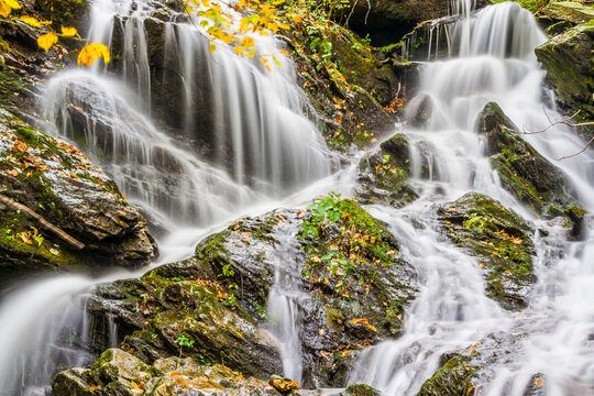 View of waterfall in Mount Mansfield State Forest