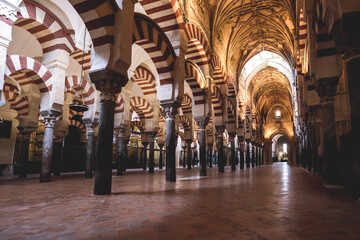 Interior view of Mosque of Cordoba