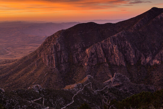 Sunrise over Guadalupe Mountain National Park