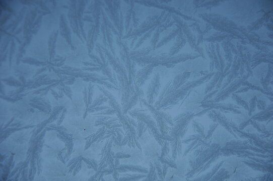 Close up of pattern on ice