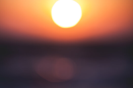 Bokeh of sun during sunset