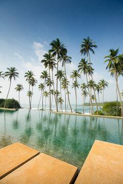 Infinity pool at Aman resort