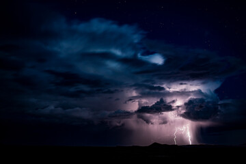 Scenic view of stormy clouds with thunderstorm