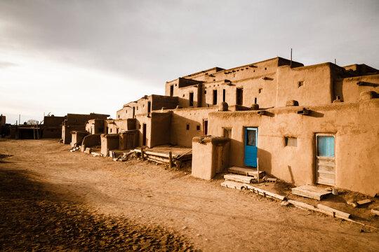 Old structures in Taos Pueblo