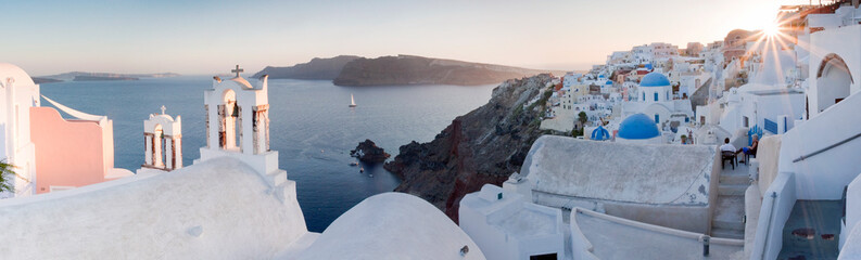 View of Oia village during sunset