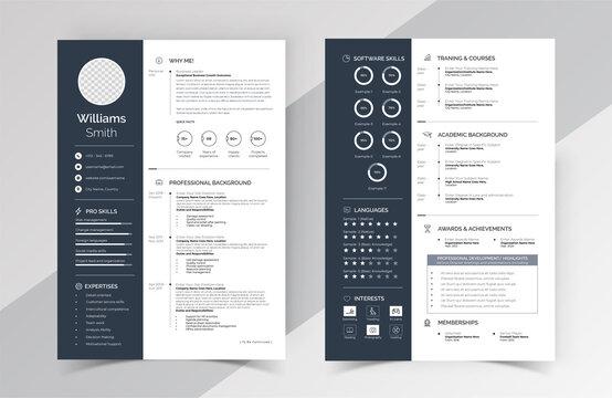 Modern Clean Resume Cv Template