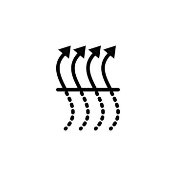 quick dry sign, air purifier icon