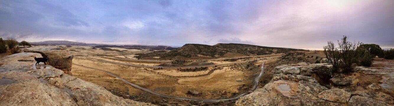 Rabbit Valley Mountainscape Panorama