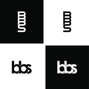 bbs letter original monogram logo design