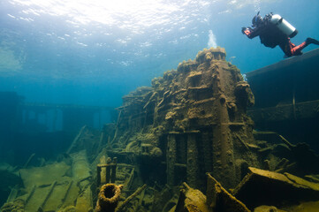 Acrylic Prints Shipwreck The Nordmeer is just one of nearly 100 shipwrecks within Thunder Bay National Marine Sanctuary.