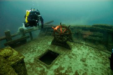 Acrylic Prints Shipwreck TBNMS FT Barney Shipwreck in Thunder Bay National Marine Sanctuary.