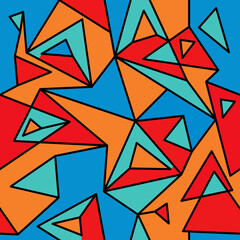 Fragment of geometric cubism, Abstract seamless pattern 3.1.