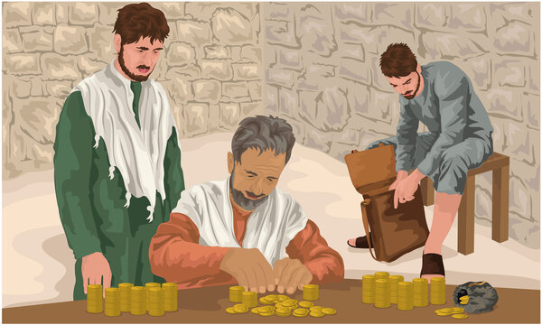 The Prodigal Son Receives His Portion Of Goods From His Father (Luke 15)