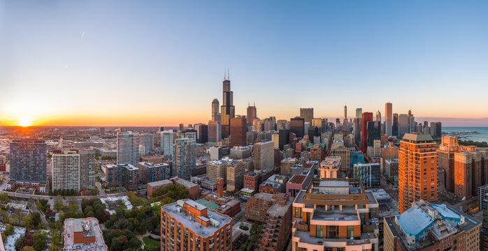 Chicago, Illinois, USA Cityscape Panorama