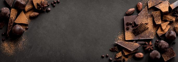 Dark Chocolate Background