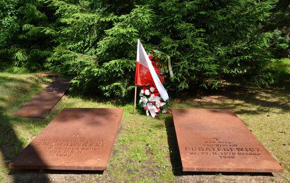 Polish military cemetery in Katyn memorial. Katyn, Smolensk Oblast, Russia.