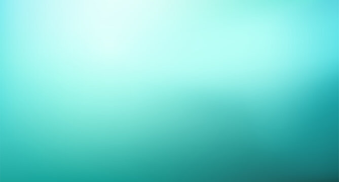 Abstract Gradient light teal mint background. Blurred turquoise blue green water backdrop. Vector illustration for your graphic design, banner, summer or aqua poster, website