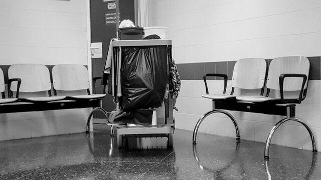 hospital; sala de espera y limpieza