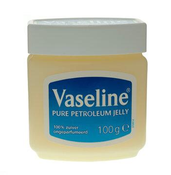London, England - September 28, 2008: Jar of Vaseline Petroleum Jelly on a white background