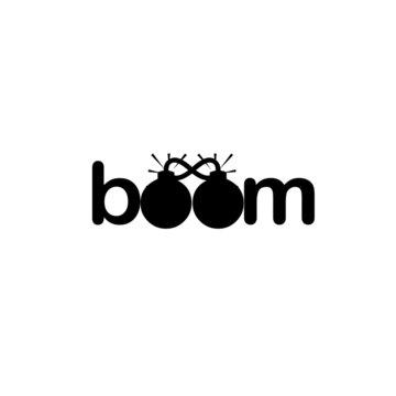 illustration of boom logo vector