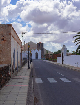 La Oliva - Fuerteventura.Glimpse of a typical village of the Canary Islands