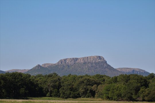 A Rock Outcrop in the Mountains Near Lawton Oklahoma