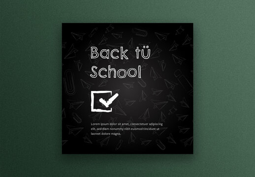 Back to School Social Media Square Layout