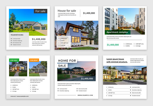 House Selling Social Media Post Layouts