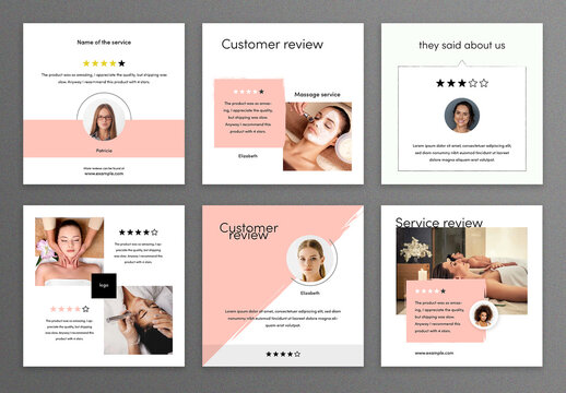 Trendy Customer Review Social Media Post Layouts