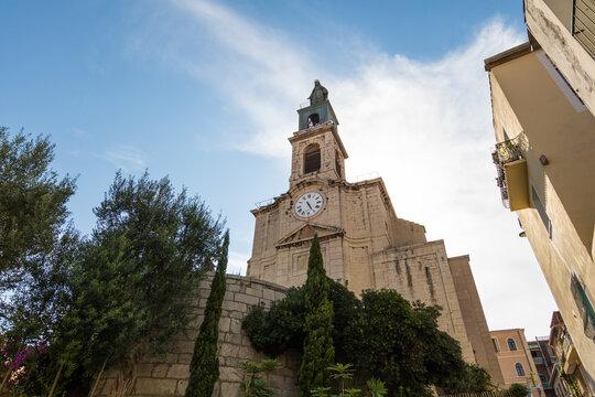 Église décanale Saint-Louis de Sète et son clocher (Occitanie, France)
