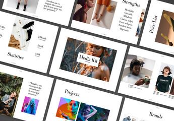 Social Media Press Kit Layout