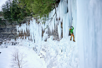 Ice Climbing Salmon River Falls, New York