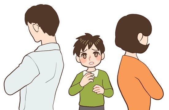 両親が不仲で悩む子供