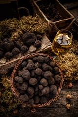 Black truffles, gourmet mushrooms