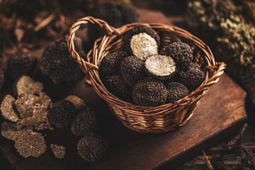 Black truffle mushrooms