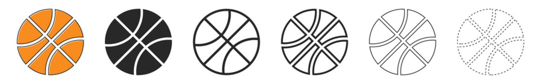 Estores personalizados con tu foto Basketball ball icons. Set of basketball balls isolated.