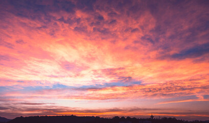 sunset  Background concept: Colorful Sky At Sunset Dawn Sunrise