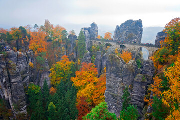 Herbst in der Sächsischen Schweiz, Deutschland